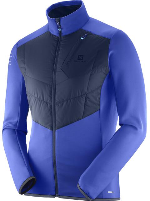 Salomon Pulse Warm Jacket Men Surf The Web/Night Sky